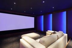 Cinema em casa, interior luxuoso imagens de stock royalty free