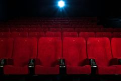 In a cinema Royalty Free Stock Photography