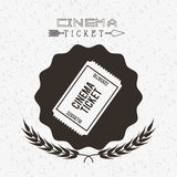 Cinema entertainment design Stock Photography