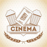 Cinema entertainment design Royalty Free Stock Photo