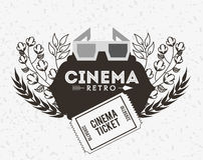 Cinema entertainment design Stock Image