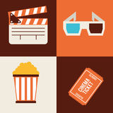 Cinema entertainment design. Illustration eps10 graphic Stock Images