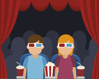 Cinema entertainment design Royalty Free Stock Images