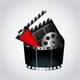 Cinema entertainment design. Cinema related icons over white background. colorful design. vector illustration Royalty Free Stock Images