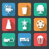 Cinema entertainment pictograms collection Royalty Free Stock Images