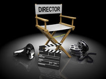 Cinema equipment Royalty Free Stock Photos