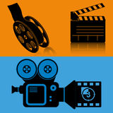 Cinema equipment film movie banner Royalty Free Stock Photography