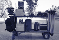 Cinema equipment transport Royalty Free Stock Photos