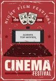 Cinema movie festival, vector theater screen stock illustration