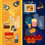 Cinema festival movie theater entrance tickets Stock Images