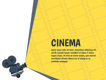 Cinema festival poster or flyer template for your design. Vector. Illustration Royalty Free Stock Photos