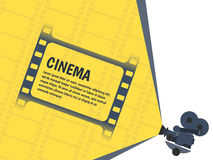 Cinema festival poster or flyer template for your design. Vector. Illustration Stock Photography