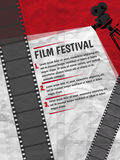 Cinema festival poster or flyer template for your design. Vector. Illustration Stock Images