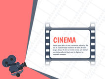 Cinema festival poster or flyer template for your design. Vector. Illustration Royalty Free Stock Image
