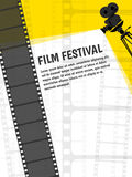 Cinema festival poster or flyer template for your design. Vector. Illustration Stock Photos