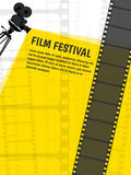 Cinema festival poster or flyer template for your design. Vector. Illustration Royalty Free Stock Photo