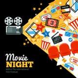 Cinema Festival Poster Royalty Free Stock Photo
