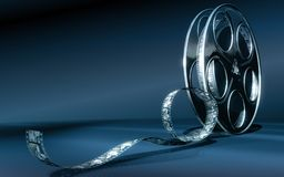 Cinema film. Reel (blue colors