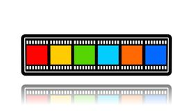 Cinema Film,3D illustration. Cinema Film,best 3D illustration Stock Photos
