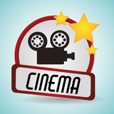 Cinema film camera movie projector. Vector illustration eps 10 Stock Images