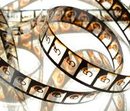 Cinema Film Countdown reel Stock Photography