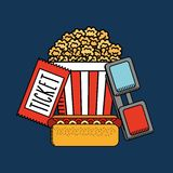Cinema film design. Vector illustration eps10 graphic Royalty Free Stock Image