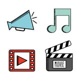 Cinema film design. Vector illustration eps10 graphic Stock Image