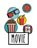 Cinema film design. Vector illustration eps10 graphic Royalty Free Stock Photo