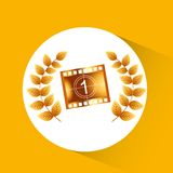 Cinema film design. Vector illustration eps10 graphic Stock Images