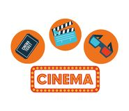 Cinema film design. Vector illustration eps10 graphic Stock Photos