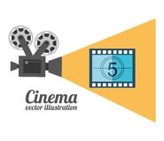 Cinema film design. Vector illustration eps10 graphic Royalty Free Stock Photos
