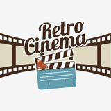 Cinema film design Stock Photos