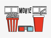 Cinema film design. Vector illustration graphic Royalty Free Stock Photography