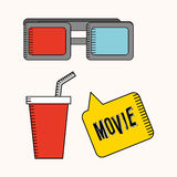 Cinema film design. Vector illustration graphic Royalty Free Stock Images