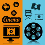 Cinema film industry concept poster. Illustration eps 10 Royalty Free Stock Photography