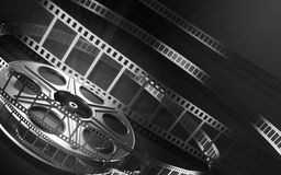Cinema film reel stock illustration
