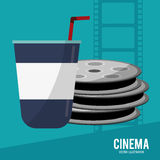 Cinema film reel soda disposable. Vector illustration eps 10 Stock Photo
