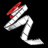 Cinema film roll. Render of classic cinema film roll Royalty Free Stock Photo