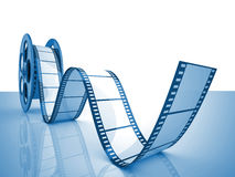 Cinema film roll. Render of classic cinema film roll Royalty Free Stock Images