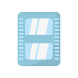 Cinema film strip tape. Illustration eps 10 Royalty Free Stock Photo