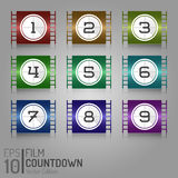 Cinema Film Tape Design. Vector Elements. Creative Isolated Movie Illustration. EPS10 Royalty Free Stock Photography
