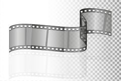 Cinema film transparent stock vector illustration. Isolated on white background Stock Photography