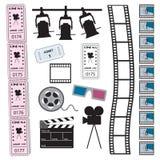 Cinema, filme e bilhetes ilustração royalty free