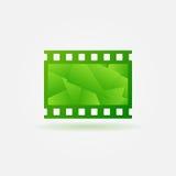 Cinema filmstrip logo template Royalty Free Stock Photos