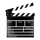 Cinema flap. Vector,  isolated Royalty Free Stock Images