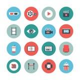 Cinema flat icon Stock Photography