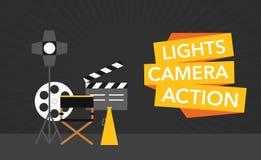 Cinema flat template background vector Stock Image