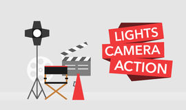 Cinema flat template background vector Royalty Free Stock Images