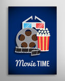 Cinema flyer, movie trailer advertisement Stock Photography
