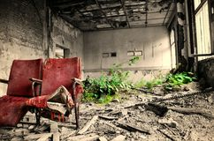 Cinema. Former cinema in a lost place Stock Photography